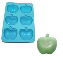 Apple Soap Chocolate Muffin Cupcake Candle Candy Silicone Mold Bakeware Pan(China)