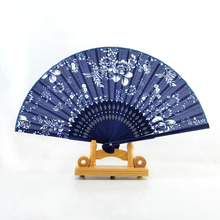 Hot Sale Spain Ladies Cheaper Bamboo Folding Hand Fans,Wholesale Personalized Bamboo Fan of Old Wedding Decoration Black 19(China)