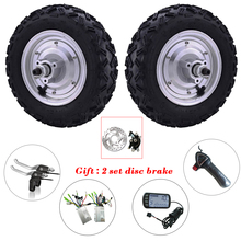 Buy Double Drive Hub Motor Kit 10 inch 24-48v 350w-800W 12-50km/h Electric Scooter Wheelchair E-Bike Wheel Motor Reversing for $286.90 in AliExpress store