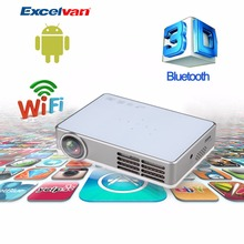 Hot Excelvan LED9 Android 4.4 DLP Wifi Projector  Miracast /Full 3D/ 1080p Reader/App downloading/Bluetooth 4.0 Smart Proyector