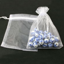 100pcs/lot 10*15cm White Jewelry Organza Bags Organza Pouch Jewelry Gift Bag for Wedding