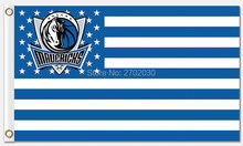 Dallas Mavericks Basketball Team Star and Strip Flag Banners US 90*150 Banner Western Team 100D Polyester Hanging Decoration