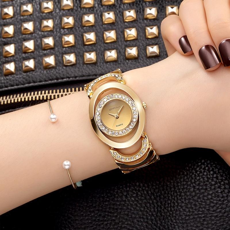 CRRJU Luxury Women Watch Famous Brands Gold Fashion Design Bracelet Watches Ladies Women Wrist Watches Relogio Femininos<br><br>Aliexpress