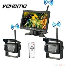 "Vehemo  Wireless IR Night Vision Truck Rear View Backup Camera + 7"" Color Monitor"