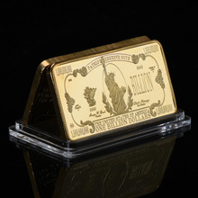 WR One Billion Dollar 24K Gold Bar America Bill Gold Plated Banknote Bars Creative Birthday Gifts