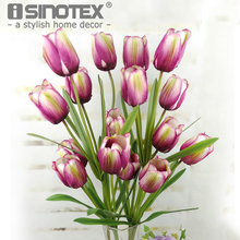 High quality 1 Pcs Silk Flowers Tulip Artificial Fake Flower \Wedding Decor Party Home Decorative Flores Craft(China)