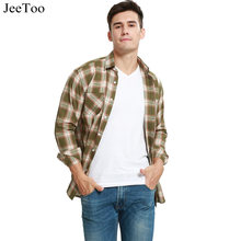 Buy JeeToo Plaid Men Shirt Long Sleeve Mens Casual Shirts Summer Aurumn Cotton Mens Plaid Shirts Fashion Mens Dress Shirt Plus Size for $11.68 in AliExpress store