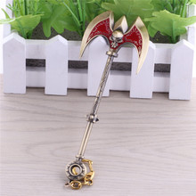 Hot Sale LOL Keychain Xin Zhao Trade War Pike Weapon Keychain 15cm Lance Model Exquisite Decoration Key Ring