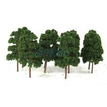 10PCS Model Trees Train Railway Wargame Diorama Architecture Layout HO Scale