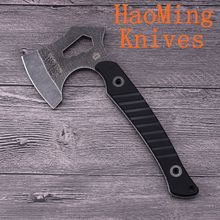 Multifunction Mini AUS6 steel ax Camping Survival Tactical Axe Tomahawk G10 hand leIce Axe Outdoor Hunting Axe EDC Tools Fire Ax