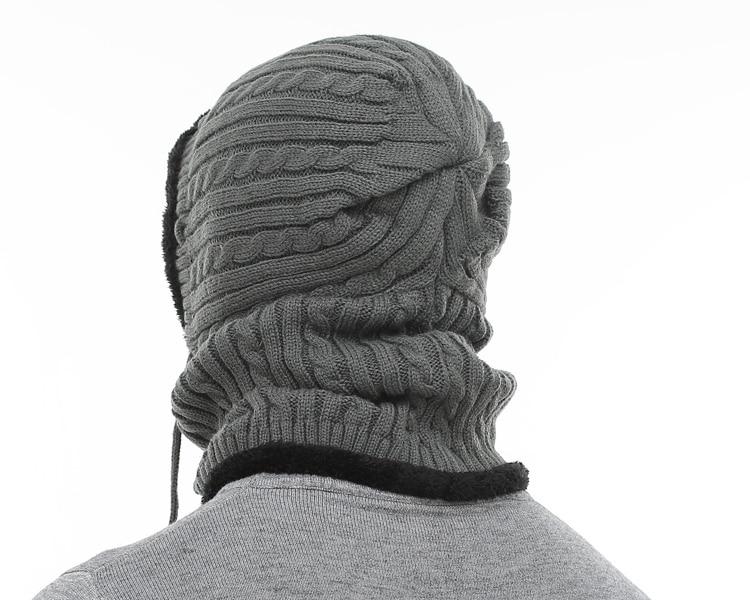 قبعة و وشاح رجالي دافئ 6