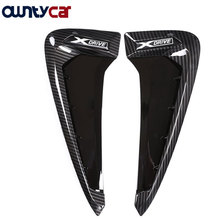 Buy 2Pcs Carbon fiber ABS Car Front Fender Side Air Vent Cover Trim BMW X Series X5 F15 X5M F85 Shark Gills Side Vent Sticker for $35.70 in AliExpress store