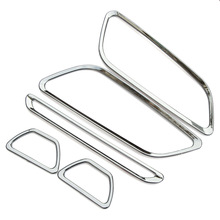 Chrome ABS interior outlet decoration ring 5pcs/lot Car Accessories For Ford focus 3 2012 2013