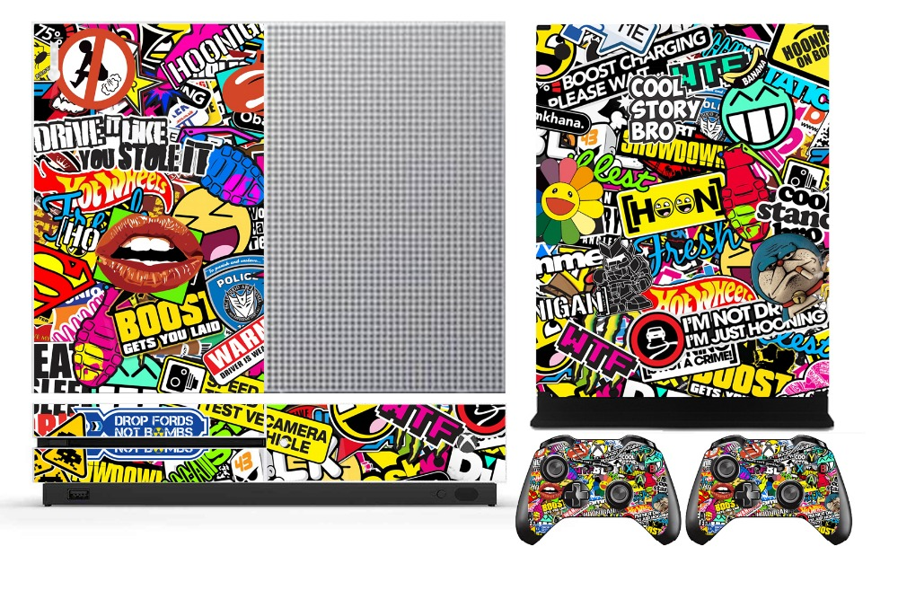 Protector Skin-Sticker Microsoft Xbox-One 2-Controller Vinyl for And 262 Bombing title=