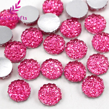 10mm Mixed Rhinestone Resin Round Flatback Beads Cabochon Scrapbook DIY Crafts Decoration Accessories 50pcs/100pcs 21021008(China)
