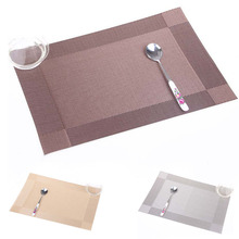 Placemat Fashion PVC Dining Table Mat Disc Pads Bowl Pad Coasters Waterproof Table Cloth Pad Slip-resistant Pad(China)