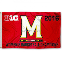 Maryland Terps Big 10 Womens Basketball Champs Baseball College Large Outdoor Flag 3ft x 5ft Football Hockey College USA Flag(China)