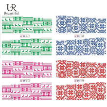 1Sheet Christmas Snowflake Nail Art Full Stickers Nail Wraps Water Transfer Decals Beauty Nail Decoration Tools BEBN241-244