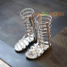 Girls Princess Sandals 2017 New Summer Toddler Letters High Rom Girls Shoes Kids Sandal Summer Children Shoe size 26~35