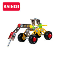 KAINISI Vehicle Metal Model Building Kits Puzzle Driller Enlighten Education Assemblage DIY Toys VS 3d metal model kits