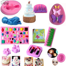 Baby Face Grass Flowers Silicone Cake Mold 3D Fondant Cake Decorating Tools Sugarcraft Cookie Confeitaria Chocolate Mould Baking