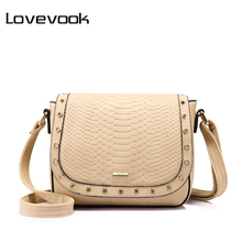LOVEVOOK brand fashion women messenger bag female high quality crossbody bag hollow out shoulder bag 2017 Light Gray/Beige/Black(China)