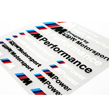 Car-Styling ///M Performance Power Motorsport Car Stickers And Decals Kit For BMW X1 X3 X5 X6 3series 5 Series 7 Series