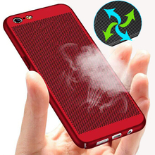xinwen 3d Original luxury ultra thin plastic radiating holes case for iPhone7 net design shell cover for iPhone 7 7 Plus coque