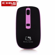 CHYI Wireless Hello Kitty Mouse 2.4ghz Optical Computer Mice Adjustable 1600DPI Mini Mause Mouse sem fio For Gamer Kids Gift(China)