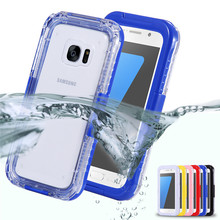 Waterproof Water Shock Dirt Snow Dust Proof Phone Cases For Samsung Galaxy S7 G9300 S7Edge Perfect Diving Underwater Pouch Case