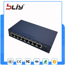 High quality 8 10/100M port fiber optic media converter for lan(China)