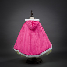 Hot sale halloween costume for kids princess hot pink and blue cape halloween girls