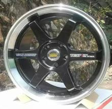 TE 37 Black 15X6.5 4x100 4X114.3 5x100 5x112 5x114.3 Car Alloy Wheel Rims(China)