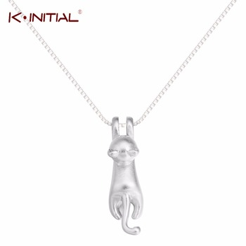1Pcs Cute Animal Cat Necklace 925 Silver Pet Jewelry Trendy Cat Pendants Necklaces For Women Animal Cats Statement Jewelry