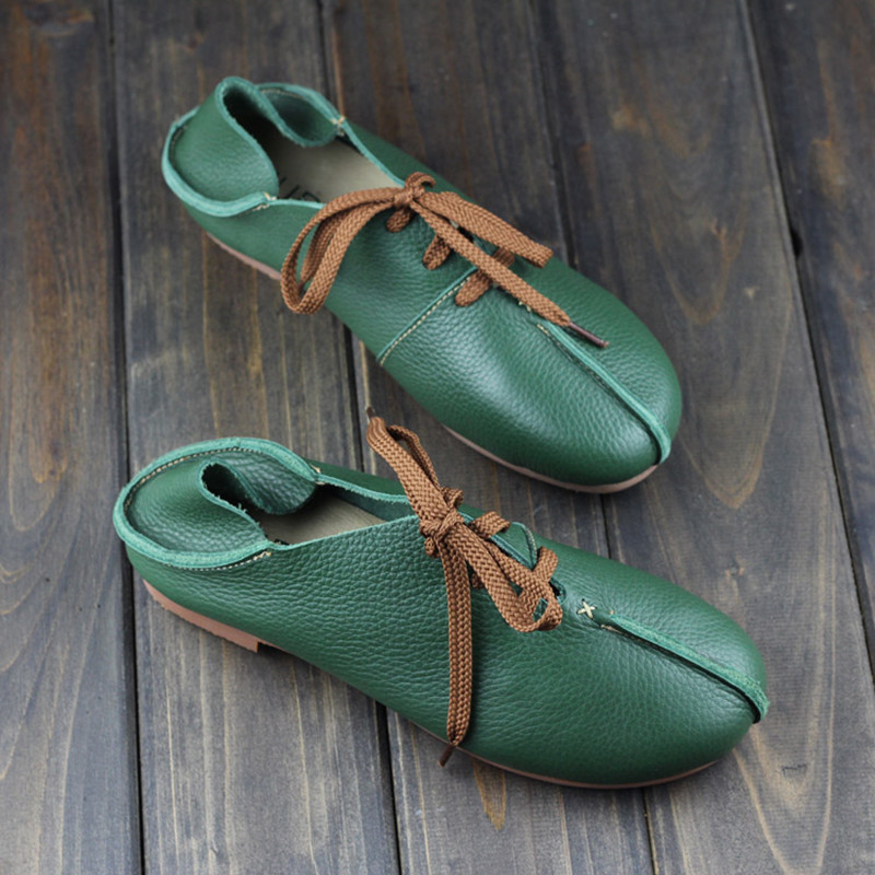2017 spring Genuine leather shoes Pure handmade flat shoes Women the retro art mori girl shoes Women fashion Casual shoes<br><br>Aliexpress