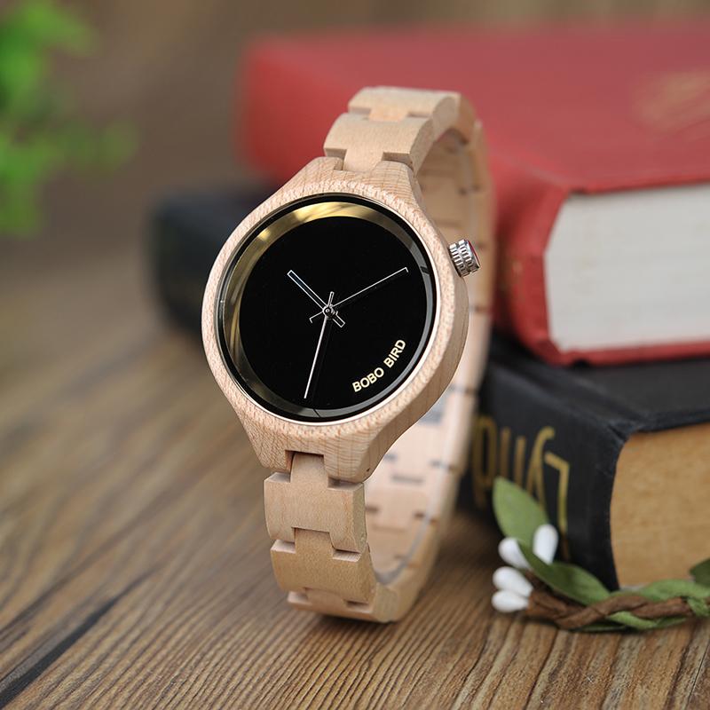 ساعة يد نسائية BOBO BIRD الخشبية الاصلية 11