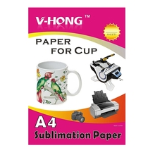 sublimation cup paper 20 Sheets/bag A4 size heat transfer paper for mug hat subliamtion paper(China)