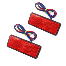 2x Rectangle Reflector LED Red Rear Tail Brake Stop Light Car-styling Universal Car Truck Reflector sign light