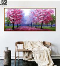 Beautiful Handmade oil painting Japanese Cherry blosoom painting landscape pictures flowers Canvas painting for living room