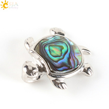 CSJA New Zealand Natural Abalone Shell Paua Turtle Tortoise Animal Pendants Gem Beads DIY Men Jewelry Making Free Shipping E335