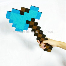2016 Newest design minecraft diamond foam Axe 40*30*1.5cm Soft EVA Game weapons for Children 's presents(China)