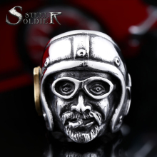 steel soldier stainless steel skull men ring fashion popular personality jewelry good detail unique jewelry for men