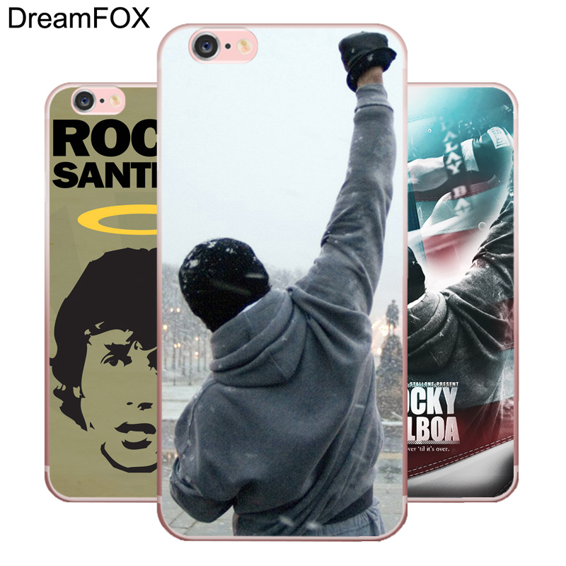 DREAMFOX L441 Rocky Balboa Boxing Figure Soft TPU Silicone Case Cover Apple iPhone 8 X 7 6 6S Plus 5 5S SE 5C 4 4S