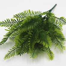 1Pcs Artificial Flower Leaves Plants Pretty Fake Lifelike Plastic Persian Grass Lysimachia Fern floral decoration 7z-cx776