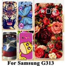 Soft TPU Hard plastic Flower Animal Cases For Samsung Galaxy ACE 4 NXT G313 G313H Lite SM-G313H cases Phone Cases Cover Shell