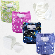 wholesale printed all in one kawaii sleepy baby diapers eve baby diapers+Microfiber Insert(China)