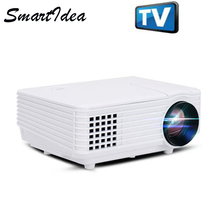1800lumens Mini LED Projector Portable LCD 3D home Cinema Proyector 1080P Digital Video TV Beamer with HDMI TV VGA AV USB(China)