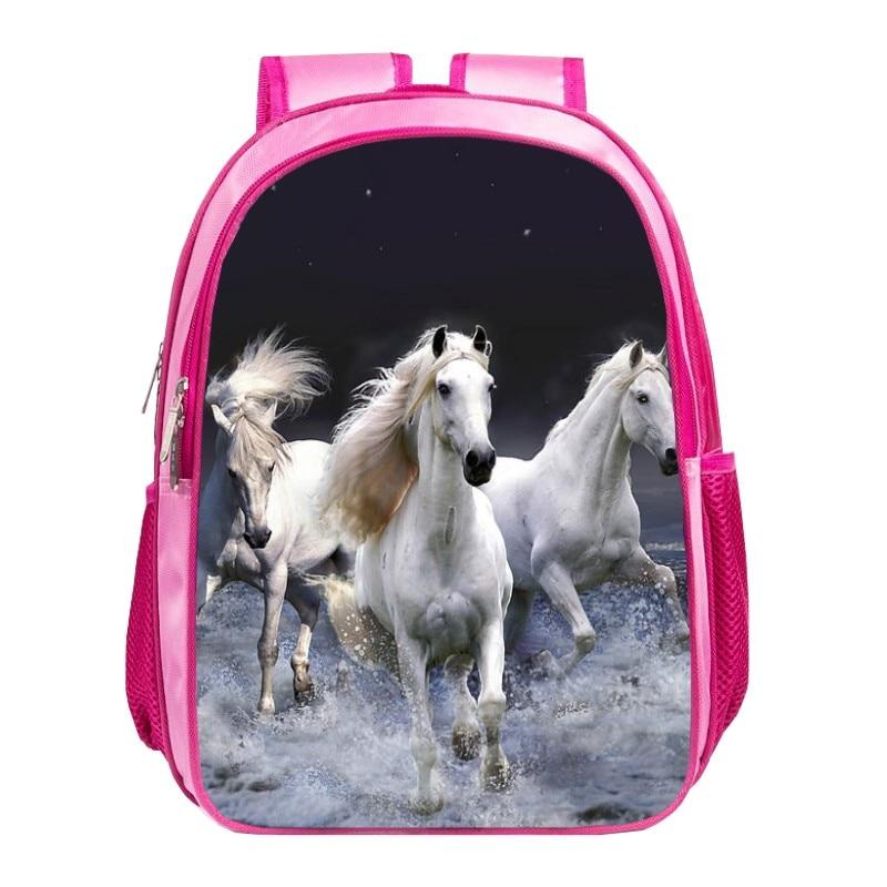 Cute printing horse animal womens bag Children travel backpack girls school bags for baby bookbag for student bags for kids 009<br><br>Aliexpress