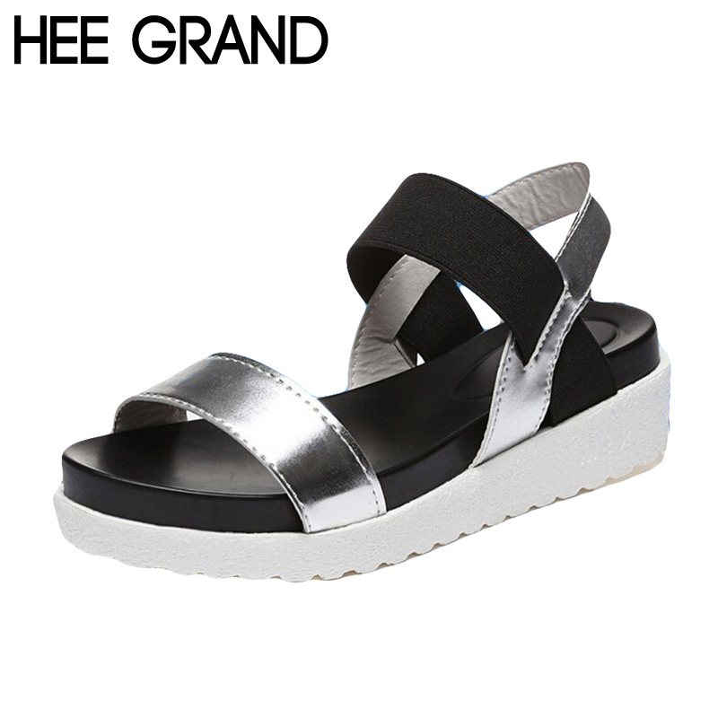 HEE GRAND Women Sandals Platform Flat With Color Patchwork Casual Leopard Black White Shoes Woman Summer Gladiator Shoes XWZ2741<br><br>Aliexpress