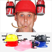 New Novelty Gift Drinking Hard Hat Beer Soda Guzzler Helmet Game Party Hat